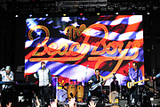LOS ANGELES, CA - SEPTEMBER 1:  John Stamos, Mike Love and the Beach Boys perform at the Los Angeles Fleet Week on August 31, 2018 in Los Angeles, California.  (Photo by Amy Graves)