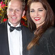 NLD/Amsterdam/20151215 - NOC / NSF Sportgala 2015, Rintje Ritsma en zwangere partner Youandi Mazeland