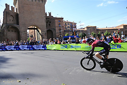 Pavel Sivakov (RUS) Team Ineos in action during Stage 1 of the 2019 Giro d'Italia, an individual time trial running 8km from Bologna to the Sanctuary of San Luca, Bologna, Italy. 11th May 2019.<br /> Picture: Eoin Clarke | Cyclefile<br /> <br /> All photos usage must carry mandatory copyright credit (© Cyclefile | Eoin Clarke)