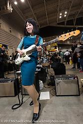 Live music on the floor at the 26th Annual Yokohama Hot Rod and Custom Show 2017. Yokohama, Japan. Sunday December 3, 2017. Photography ©2017 Michael Lichter.