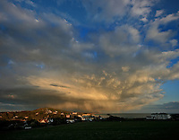 Storm clouds gathering over freshwater bay, isle of wight