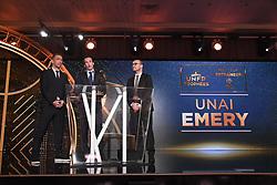 May 13, 2018 - Paris, France - UNAI EMERY (ENTRAINEUR PSG) - YOURI DJORKAEFF - Alexandre Nodale  (Credit Image: © Panoramic via ZUMA Press)