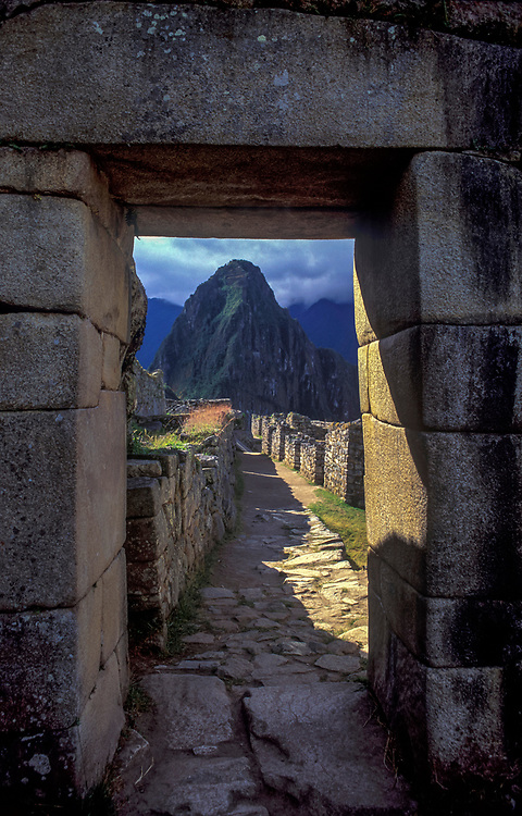 The lost Inca city of Machu Picchu, discovered in 1911 by Hiram Bingham with local assistance.