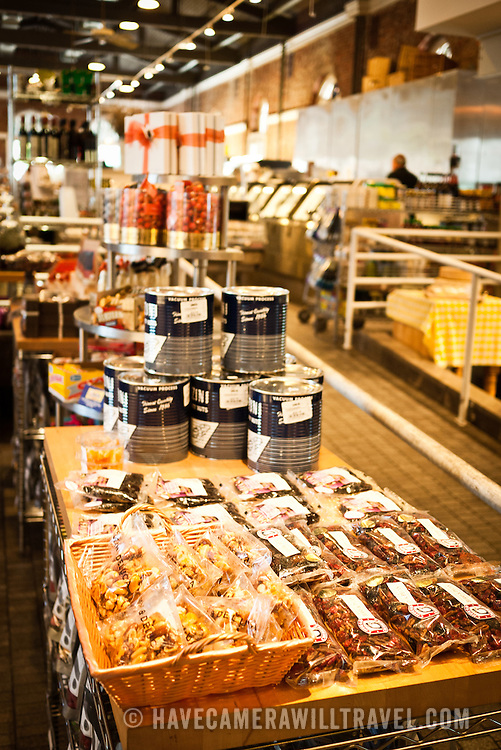 Food for sale at upscale market Dean & Deluca in Georgetown, Washington DC