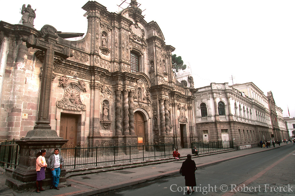 ECUADOR, COLONIAL ARCHITECTURE QUITO; La Compania, Jesuit church, c1605-1768 famous as the most ornate church in Quito