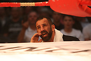 Boxing: Cruiserweight, WBO European Championship, Nuri Seferi (ALB) - Tamas Lodi (HUN), Hamburg, 16.05.2014<br /> Oktay Urkal, coach of Nuri Seferi (ALB)<br /> ©Torsten Helmke