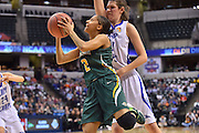 April 4, 2016; Indianapolis, Ind.; Adriana Dent drives to the basket in the NCAA Division II Women's Basketball National Championship game at Bankers Life Fieldhouse between UAA and Lubbock Christian. The Seawolves lost to the Lady Chaps 78-73.