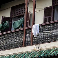 Africa, Morocco, Fes. Balcony of original Mellah, or Jewish quarter, in Fes.
