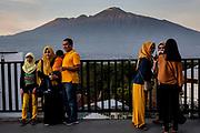 Sunset at the d'Topeng Kingdom Museum (Transportation Museum) in Batu.
