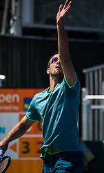 March 22, 2018 - Miami, Florida, United States - Victor Troicki, from Serbia, in action during his first round match at the Miami Open against Denis Shapovalov during his first round macth at the Miami Open  on March 23, 2018 in Key Biscayne, Florida. (Credit Image: © Manuel Mazzanti/NurPhoto via ZUMA Press)
