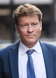© Licensed to London News Pictures. 21/05/2019. London, UK. Brexit Party chairman RICHARD TICE is seen arriving at the headquarters of The Brexit Party in London. The Electoral Commission is expected to visit Brexit Party offices today to investigate funding after Gordon Brown raised concerns over the use of PayPal to raise money. Photo credit: Ben Cawthra/LNP