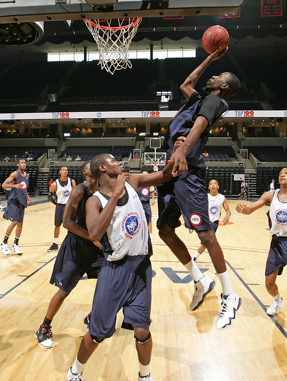 Okaro White handles the ball during the 2009 NBPA Top 100 Basketball Camp held Friday June 17- 20, 2009 in Charlottesville, VA. Photo/ Andrew Shurtleff