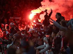 September 14, 2017 - London, Greater London, United Kingdom - Flares  during UEFA Europa League Group H match between Arsenal and 1.FC Koln at The Emirates , London 14 Sept 2017  (Credit Image: © Kieran Galvin/NurPhoto via ZUMA Press)
