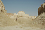 Israel, Sodom, near the southern part of the Dead Sea, Sandstone ravine