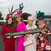 08.10.17.            <br /> Pictured at Limerick Racecourse for the  Keanes Most Stylish Lady competition were, Diana Hilliard, Tasha O'Connor, Eilish Stack and Sheila O'Sullivan. Picture: Alan Place
