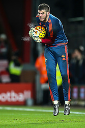 Fraser Forster of Southampton warms up - Mandatory by-line: Jason Brown/JMP - Mobile 07966 386802 01/03/2016 - SPORT - FOOTBALL - Bournemouth, Vitality Stadium - AFC Bournemouth v Southampton - Barclays Premier League