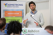 Alejandro Brenes from Enertiva speaking at the 2015 Ashden International Conference. The Business of Energy: Enterprising Solutions to the Energy Access Challenge. Kings Cross, London, UK. All image use must be credited. © Andrew Aitchison / Ashden