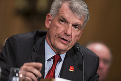 October 3, 2017 - Washington, District Of Columbia, USA - TIMOTHY SLOAN President and Chief Executive Officer of Wells Fargo testifies before United States Senate Banking Committee. (Credit Image: © Alex Edelman via ZUMA Wire)