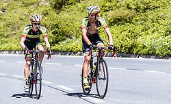 10.07.2019, Fuscher Törl, AUT, Ö-Tour, Österreich Radrundfahrt, 4. Etappe, von Radstadt nach Fuscher Törl (103,5 km), im Bild v.l.: Patrick Schelling (Team Vorarlberg Santic, SUI), Jose Manuel Diaz Gallego (Team Vorarlberg Santic, ESP) // during 4th stage from Radstadt to Fuscher Törl (103,5 km) of the 2019 Tour of Austria. Fuscher Törl, Austria on 2019/07/10. EXPA Pictures © 2019, PhotoCredit: EXPA/ JFK