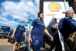 Simon Kerrod of Worcester Warriors arrives at Sandy Park for the Premiership fixture against Exeter Chiefs - Mandatory by-line: Robbie Stephenson/JMP - 29/09/2018 - RUGBY - Sandy Park Stadium - Exeter, England - Exeter Chiefs v Worcester Warriors - Gallagher Premiership Rugby