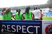 Paris Saint-Germain take a breather<br /> <br /> Photographer Kevin Barnes/CameraSport<br /> <br /> UEFA Women's Champions League Final - Pre match training session - Lyon Women v Paris Saint-Germain Women - Wednesday 31st May 2017 - Cardiff City Stadium<br />  <br /> World Copyright © 2017 CameraSport. All rights reserved. 43 Linden Ave. Countesthorpe. Leicester. England. LE8 5PG - Tel: +44 (0) 116 277 4147 - admin@camerasport.com - www.camerasport.com