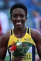 Janeive RUSSEL JAM 400m Hurdles Women Winner<br /> Roma 03-06-2016 Stadio Olimpico <br /> IAAF Diamond League Golden Gala <br /> Atletica Leggera<br /> Foto Andrea Staccioli / Insidefoto