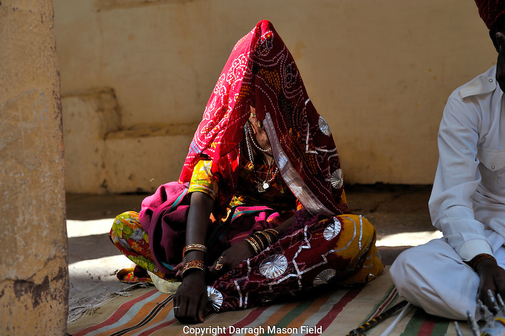 Veiled singer in the Mehrangarh Fort