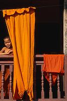 Laos, Vientiane, Moine novice. // Laos, Vientiane, Young Monk.