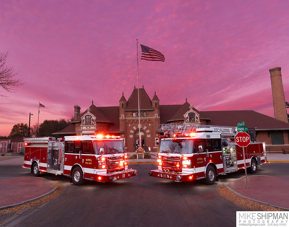 Nampa Fire, two new apparatus; engine and ladder.
