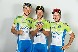 Matej Mohoric, Primoz Roglic and Jan Polanc during photo session of Slovenian Cycling Team for 2018 UCI Road World Championships Innsbruck, on September 17, in Spodnji Brnik, Slovenia. Photo by Vid Ponikvar / Sportida