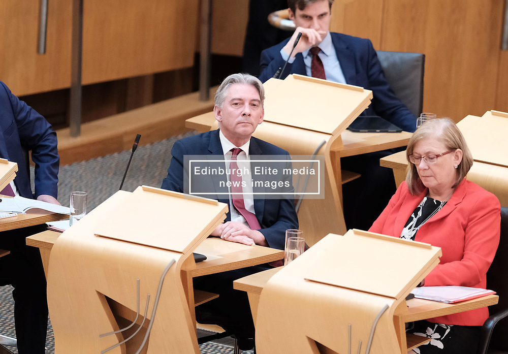 First Minister's Questions in the Scottish Parliament<br /> <br /> Thursday, 19th September 2019<br /> <br /> Pictured: Scottish Labour leader Richard Leonard<br /> <br /> Alex Todd   Edinburgh Elite media