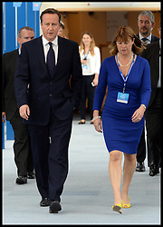 Image ©Licensed to i-Images Picture Agency. 28/09/2014. Birmingham, United Kingdom. The Prime Minister David Cameron with Rachel Maclean on Day one of the  Conservative Party Conference.Picture by Andrew Parsons / i-Images