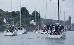 Silvers Marine Scottish Series 2017<br /> Tarbert Loch Fyne - Sailing Day 2<br /> <br /> Fleet heads back into Tarbert Harbour after racing postponed.