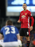 Zlatan Ibrahimovic of Manchester United looks on as Seamus Coleman of Everton is injured after a tackle during the Premier League match at Goodison Park, Liverpool. Picture date: December 4th, 2016.Photo credit should read: Lynne Cameron/Sportimage