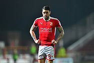 James Dunne (8) of Swindon Town during the EFL Sky Bet League 2 match between Swindon Town and Yeovil Town at the County Ground, Swindon, England on 10 April 2018. Picture by Graham Hunt.