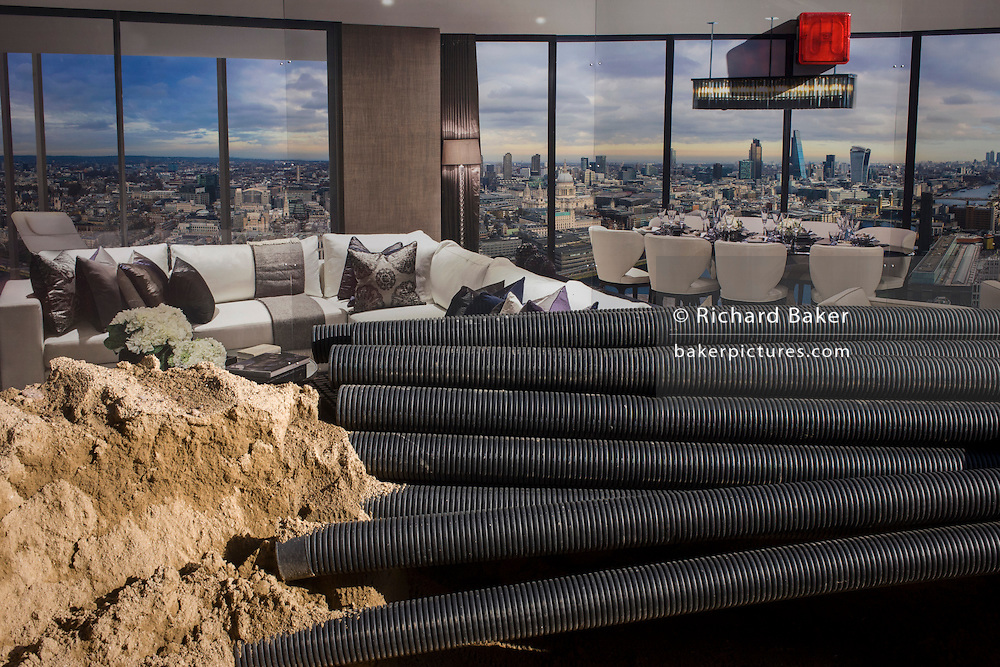 Blackfriars property development marketing suite hoarding and construction materials