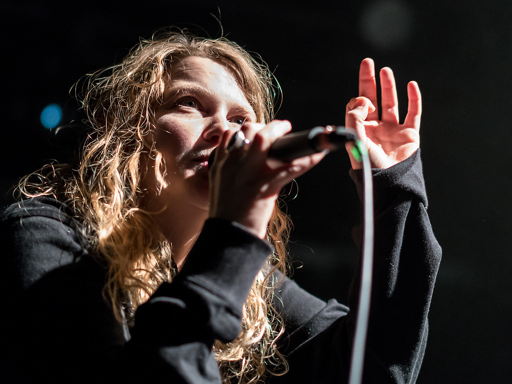British spoken-word artist Kate Tempest at Iceland Airwaves
