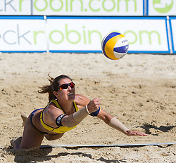 01-08-2014 AUT: FIVB Grandslam Volleybal, Klagenfurt<br /> Juliana Felisberta Silva of Brasil in action<br /> ***NETHERLANDS ONLY***