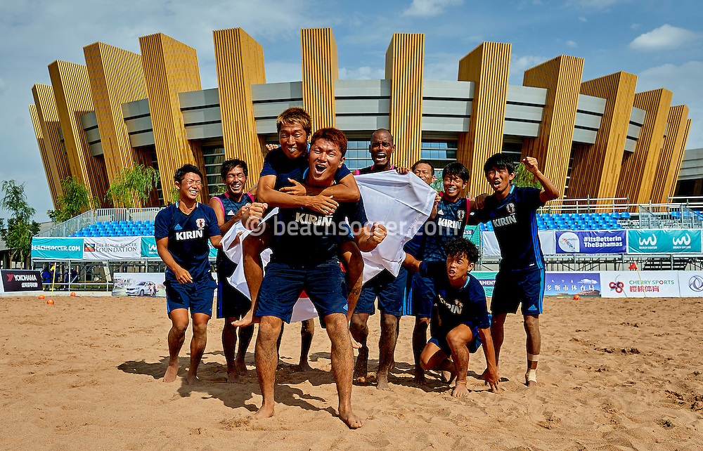 ORDOS, CHINA - AUGUST 21:  Continental Beach Soccer Tournament Ordos at Ordos Municipal Sports Center on August 21, 2016 in Ordos, China (Photo by Manuel Queimadelos)