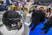 Gentex Helmets - The DSEI (Defence and Security Equipment International) exhibition at the Excel Centre, Docklands, London UK 15 Sept 2015