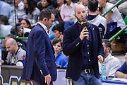 DESCRIZIONE : Beko Legabasket Serie A 2015- 2016 Playoff Quarti di Finale Gara3 Dinamo Banco di Sardegna Sassari - Grissin Bon Reggio Emilia<br /> GIOCATORE : Edi Demnbinsky<br /> CATEGORIA : Ritratto<br /> SQUADRA : Rai Sport TV<br /> EVENTO : Beko Legabasket Serie A 2015-2016 Playoff<br /> GARA : Quarti di Finale Gara3 Dinamo Banco di Sardegna Sassari - Grissin Bon Reggio Emilia<br /> DATA : 11/05/2016<br /> SPORT : Pallacanestro <br /> AUTORE : Agenzia Ciamillo-Castoria/L.Canu