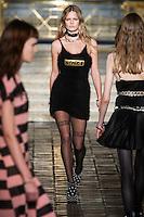 Anna Ewers walks the runway wearing Alexander Wang Fall 2016 during New York Fashion Week on February 13, 2016