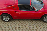 Ferrari Dino GTS right hand drive chairs and flares.<br /> Image by Greg Beadle
