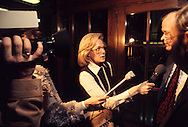 Leslie Stahl CBS interviews congressman on Captiol Hill  in March 1977...Photograph by Dennis Brack bb 21