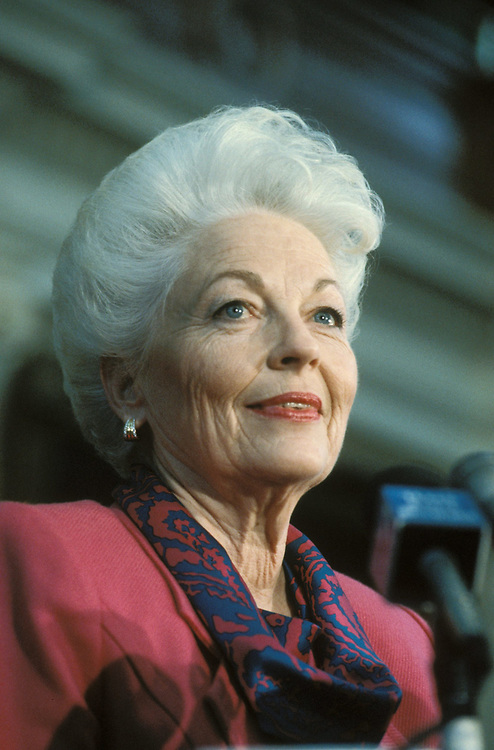 Texas Governor Ann Richards at her first press conference after election in 1990. <br /> ©Bob Daemmrich