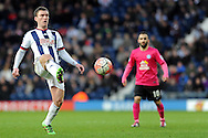 West Brom's Craig Gardner in action. The Emirates FA Cup, 4th round match, West Bromwich Albion v Peterborough Utd at the Hawthorns stadium in West Bromwich, Midlands on Saturday 30th January 2016. pic by Carl Robertson, Andrew Orchard sports photography.
