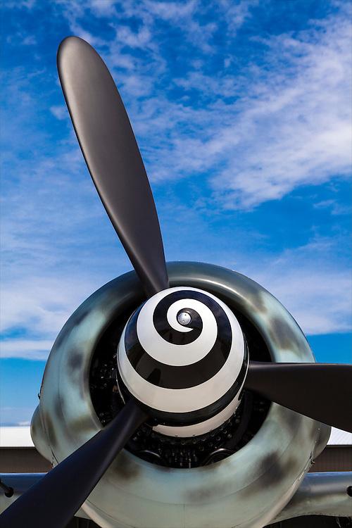 A replica Focke-Wulf 190 on display in the warbird area at Airenture 2011 in Oshkosh, Wisconsin.