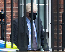 © Licensed to London News Pictures. 21/06/2021. London, UK. Prime Minister Boris Johnson departs the rear of Downing Street.  Photo credit: George Cracknell Wright/LNP