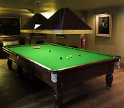 Snooker Table in Upton House 2013. In 1927 the estate was acquired by Walter Samuel; Son of Marcus Samuel, founder of the oil company Shell.