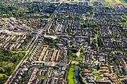 Nederland, Zuid-Holland, Barendrecht, 15-07-2012; Barendrecht, nieuwbouw rond de oude dorpskern. Links de Eerste Barendrechtseweg..New constructed residential district around the old town of Barendrecht (SW Netherlands). .luchtfoto (toeslag), aerial photo (additional fee required).foto/photo Siebe Swart
